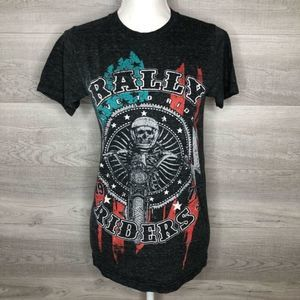Helix Rally Riders 1977 Graphic Tee Size Small
